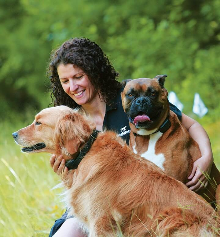 Woman and her Two Dogs